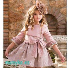vestido vuelo niña rosa palo