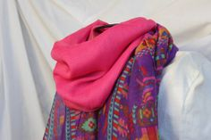 Pretty Pink and Bright Purple Aztec Tribal Print by loviebaker, $15.00