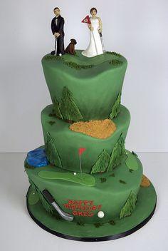 golf theme wedding cake