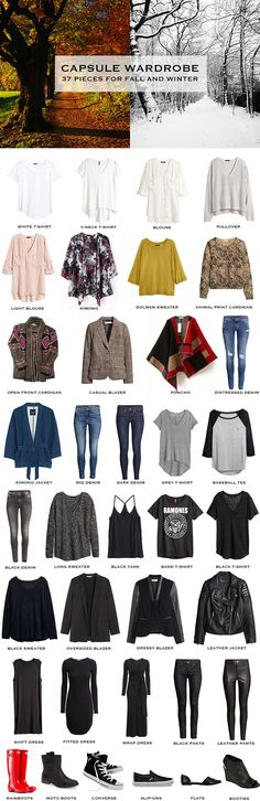 Fall / Winter Capsule Wardrobe