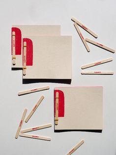 """Fabriano collezione di quaderni """"I Ghiaccioli"""" progettata da Atelier Vostok."""