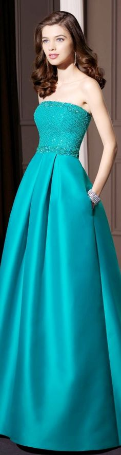 Aire Barcelona 2014 LBV ♥✤ | KeepSmiling | BeStayElegant turquoise gown, floor length evening dress