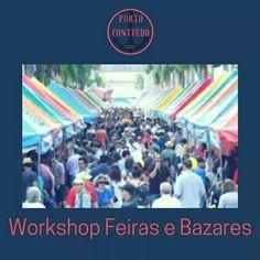 Workshop Feiras E bazares!  Aprender a selecionar os eventos, calcular o seu ponto de equilíbrio financeiros e gatilhos mentais pra vendas e como produzir uma feira de sucesso! São alguns dos conteúdos do curso! Agende sua turma!