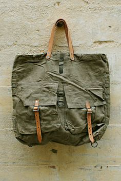 VINTAGE CZECH MILITARY TOTE from Mohawk general store