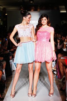 Kendall & Kylie Jenner at New York Fashion Week Spring 2013