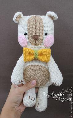 Купить Мастер-класс Мишка Обнимишка - бежевый, молочный, мишка, вязаная игрушка, игрушка для детей
