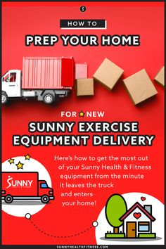 If you've recently ordered Sunny equipment: congrats, you've just made one of the best decisions for your physical and mental health. Here's how to get the most out of your Sunny Health & Fitness equipment from the minute it leaves the truck and enters your home! #sunnyhealthfitness #homedelivery #fitnessequipment #homegym Health And Fitness Articles, Health Fitness, The Minute, No Equipment Workout, Sunnies, Delivery, Exercise, Ejercicio, Sunglasses