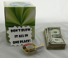 don't blow it all in one place Money Gifts in a kleenex box
