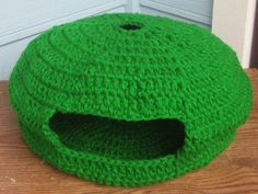 Crochet Pet house Collapsible Bed for cats or small dogs. via Etsy.
