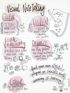 Free download - tips for great sketchnotes in school. You can use a digital tablet or paper - just try visual thinking.