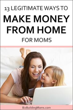 Learn how to get started with 13 work from home ideas for moms. One of these legitimate options may be just what you need to get out of your one-income rut! Legitimate Work From Home, Work From Home Jobs, Make Money From Home, Way To Make Money, Writing A Business Plan, Business Advice, Internet Marketing, Online Marketing, Money Making Websites