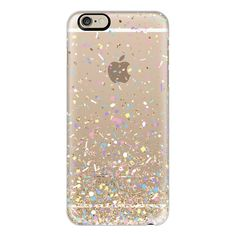 iPhone 6 Plus/6/5/5s/5c Case - Gold Multicolor Pastel Confetti... ($40) ❤ liked on Polyvore featuring accessories, tech accessories, phone cases, phone, electronics, cases, iphone case, transparent iphone case, gold iphone case and apple iphone cases