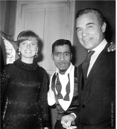 The Rubirosas with Sammy Davis Jr.