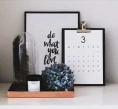 Clipboard calendar. See where to get it for FREE here:  http://passionsforfashion.dk/2014/03/29/diy-free-printable-calendar/ #home #descor #interior #design #calendar #clipboard #homeoffice