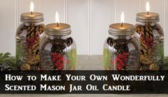 Check out these Mason Jar Oil Lamps we just discovered! Not only can you use a variety of different oils, but they will be cheaper to run than regular candles - and by adding spices or a few drops of your favorite essential oils, you can create your own wonderful custom aromas that will fill the space with a golden vibe!v