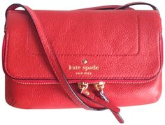 Kate Spade Mansfield Mariana Leather Crossbody, Persimmon Red List Price: $198.00 Our Price: $170.00 Savings: $28.00