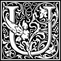Free Clipart: William Morris Letter U | Symbol | kuba