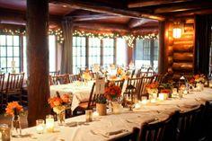 Autumn Wedding at Log Haven {Pepper Nix Photography} Log Cabin Wedding, Lodge Wedding, Wedding Rustic, Wedding Ideas, Rustic Weddings, Wedding Table, Wedding Decor, Fall Wedding Colors, Autumn Wedding