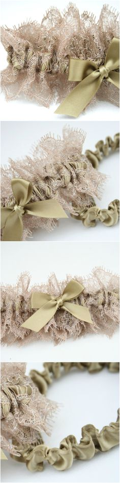 How To Make A Wedding Garter Instructions And Photos Christi Van Matre Here Is Pattern For You Desi
