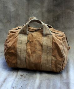 worn duffel bag
