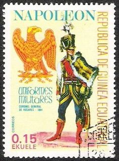 Stamp: Colonel-General of the Hussars (Equatorial Guinea) (Napoleonic Military Uniforms) Mi:GQ 1183,Sn:GQ 77-100,Yt:GQ 110C