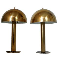 """Pair of Laurel Table Lamps  USA  1950's  A pair of Chrome """"Mushroom"""" Table Lamps by Laurel."""