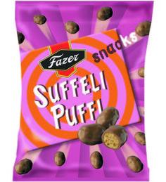 2,30 EUR   Suffeli Puffi Snack -makeisten suklaakuorrutteen alta paljastuu rapea…