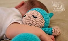 Sleepyhead amigurumi free pattern Spanish with English subtitiles