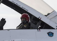 Apollo 11 astronaut Buzz Aldrin in the cockpit of one of the USAF Thunderbird jets. Aldrin flew with the demonstration team April 2.