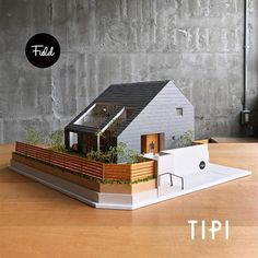 Koshimemo - name is tipi (tipi). - The origin of the name is, # Tipi tent wanted ahead of tons as of this house . Maquette Architecture, Architecture Model Making, Architecture Sketchbook, Concept Architecture, Architect House, Architect Design, Minimalist Architecture, Modern Architecture, Modern Buildings