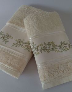 Towel, Lush, Bath Towels & Washcloths, Leaves, Punto De Cruz, Dots, Needlepoint
