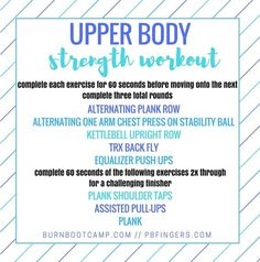 Monday Happenings + Upper Body Strength Workout