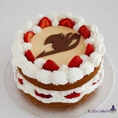 cake, fairy tail, and anime image Yummy Treats, Yummy Food, Cute Cakes, Cute Food, Cake Art, Fairy Tail, Amazing Cakes, Cupcake Cakes, Cake Recipes