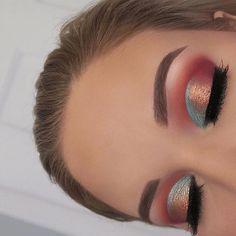 Gorgeous Makeup: Tips and Tricks With Eye Makeup and Eyeshadow – Makeup Design Ideas Makeup Eye Looks, Eye Makeup Art, Natural Eye Makeup, Colorful Eye Makeup, Cute Makeup, Eyeshadow Looks, Glam Makeup, Gorgeous Makeup, Skin Makeup