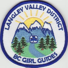 Langley Valley District Patch #1,Fraser Skies Area, Girl Guides of Canada, GGC