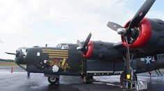 """Boeing B24 Liberator bomber """"Witchcraft"""" owned by the Collings Foundation."""