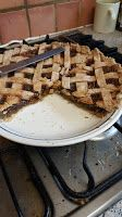 Use up unripe tomatoes in this surprisingly fruity dessert pie! Green Tomato Pie, Green Tomatoes, Pie Dessert, Waffles, Breakfast, Desserts, Recipes, Food, Morning Coffee