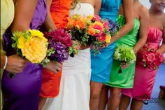 Over the rainbow bridal party