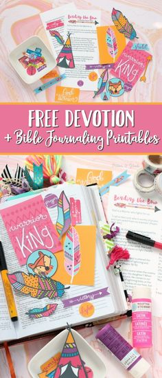 FREE Printable Devotion and Bible Journal Goodies | Homeschool Giveaways