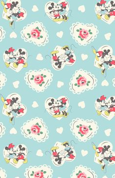 Minnie Hearts Mickey | A Mickey and Minnie love story in print form, brimming with hearts and flowers | Disney X Cath Kidston 2016 |