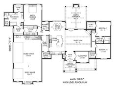 European Style House Plan - 3 Beds 2.50 Baths 2700 Sq/Ft Plan #932-22