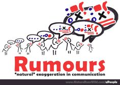 "Rumours: ""natural"" exaggeration in communication #communicate"