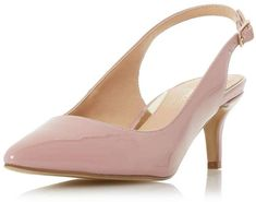 Head Over Heels by Dune featuring a stylish pointed toe court shoes with a slingback design. Work Pumps, High Heel Pumps, Low Heels, Pumps Heels, Head Over Heels, Dusty Pink, Dune, Stylish, Stuff To Buy