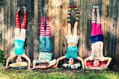 Great idea for a fun photo shoot! Colors...girlfriends...laughter!