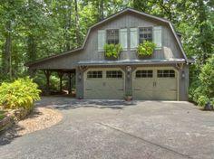 Barn style homes custom barn with gambrel roof 10 39 wide for Garage builders atlanta