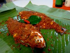 Ikan Bakar Portugis (Portugese inspired baked fish with banana leaves ...