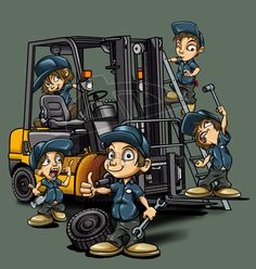 "This doesn't seem to depict your ""average"" forklift tech"