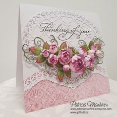 Thinking of You Classic Roses from Heartfelt Creations. Card created by Patricia Manhire.