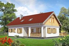 Zdjęcie projektu Modrzyk Max - murowana – ceramika KRD2477 Home Fashion, Shed, Outdoor Structures, Cabin, House Styles, Home Decor, Decoration Home, Room Decor, Cabins