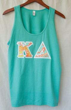Aqua Tank With Lilly Print On White